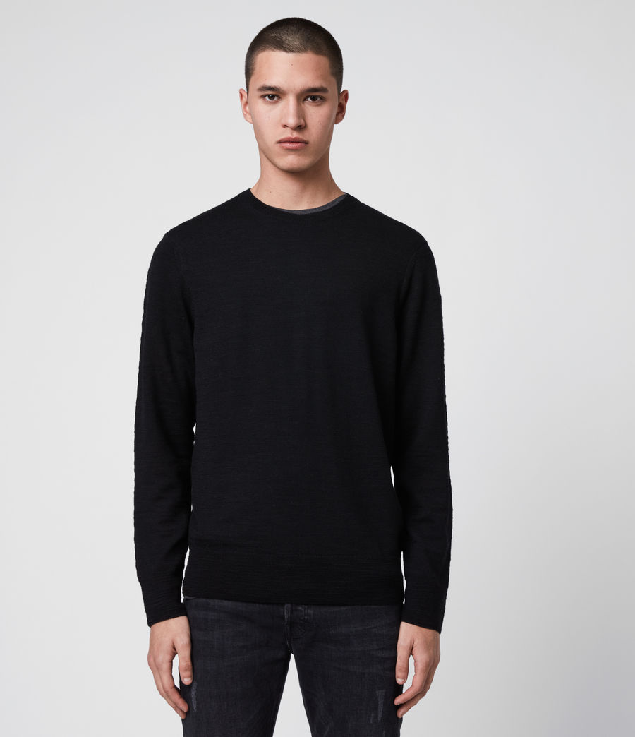 Mens Kole Merino Crew Sweater (black) - Image 1