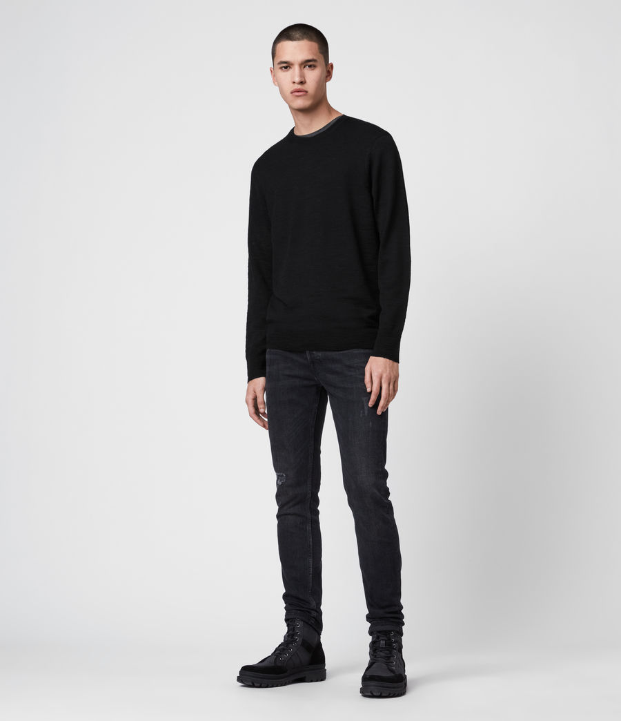 Mens Kole Merino Crew Sweater (black) - Image 3