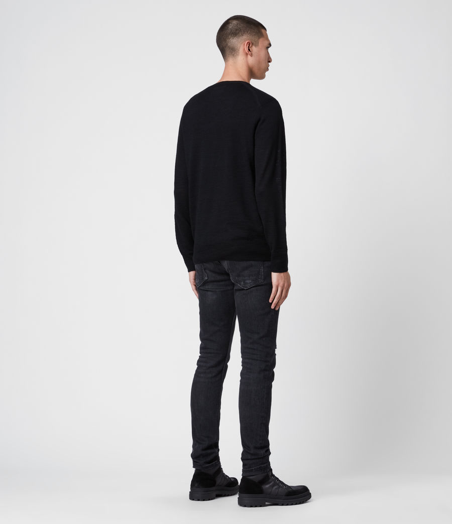 Mens Kole Merino Crew Sweater (black) - Image 6