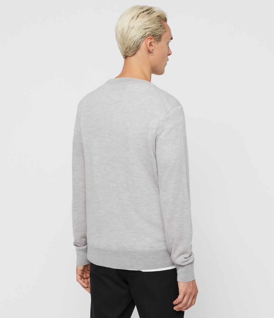 Men's Ode Cashmere Crew Jumper (light_grey_marl) - Image 5