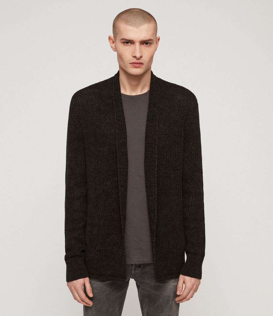 Men's Oskett Open Cardigan (cinder_black_marl) - Image 1