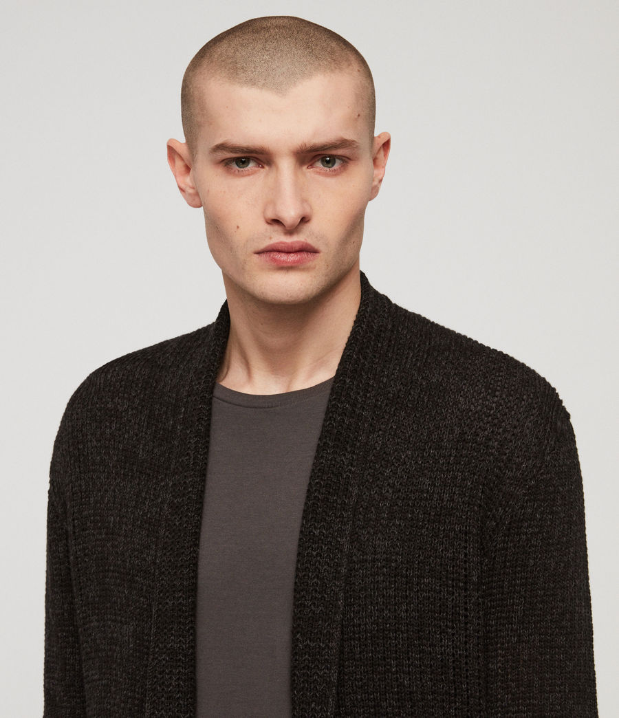 Men's Oskett Open Cardigan (cinder_black_marl) - Image 3