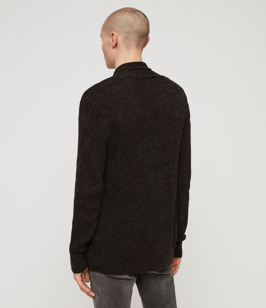 Men's Oskett Open Cardigan (cinder_black_marl) - Image 5