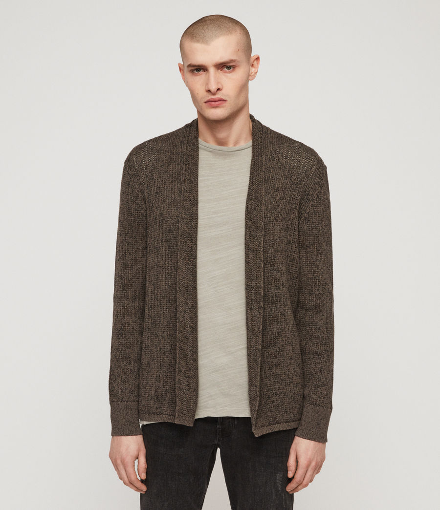 Mens Oskett Open Cardigan (core_grey) - Image 1