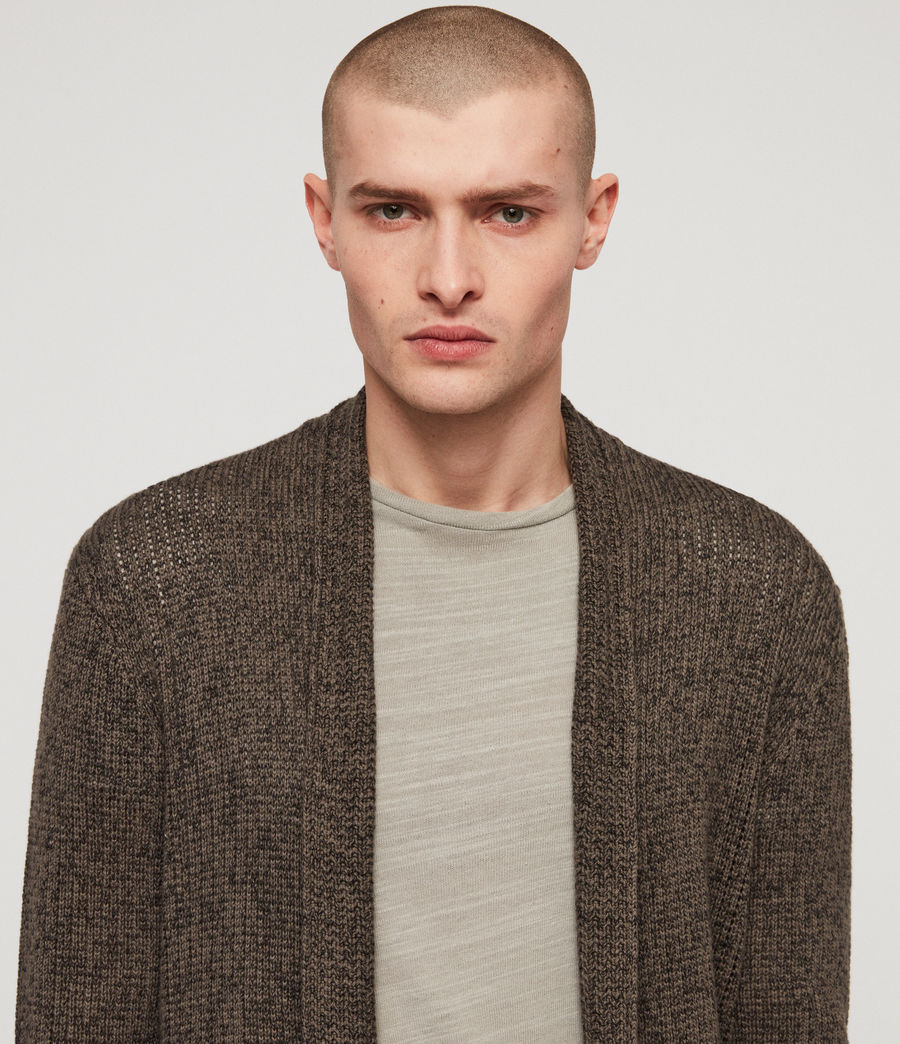 Mens Oskett Open Cardigan (core_grey) - Image 2