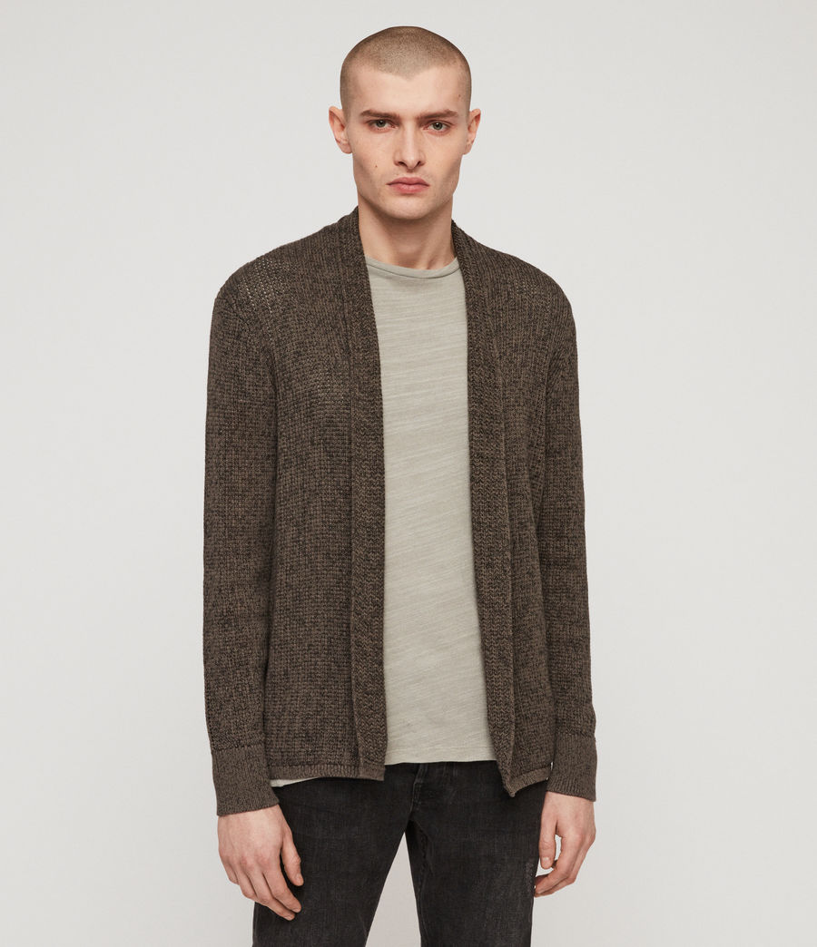 Mens Oskett Open Cardigan (core_grey) - Image 3