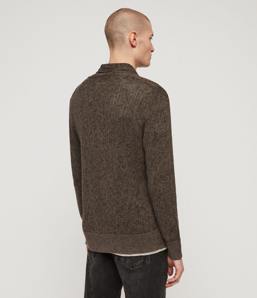 Mens Oskett Open Cardigan (core_grey) - Image 5