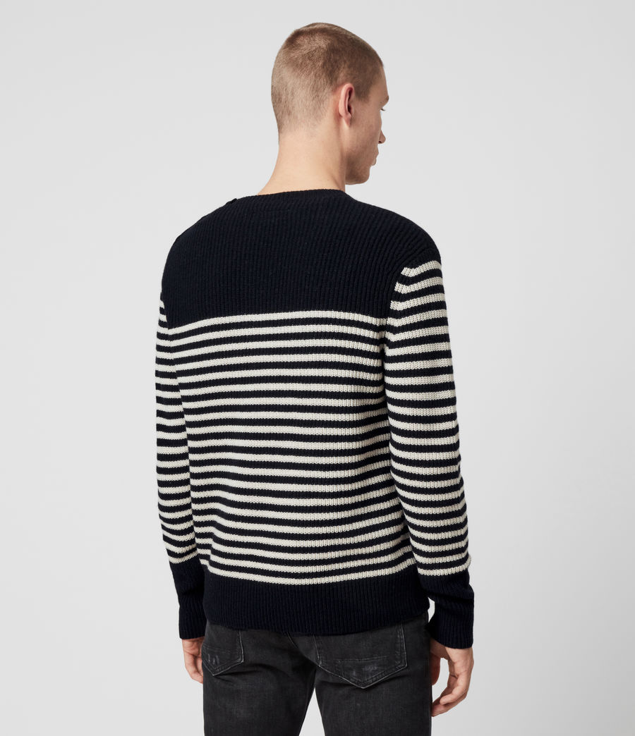 Men's Carnon Crew Jumper (ink_navy_ecru) - Image 5