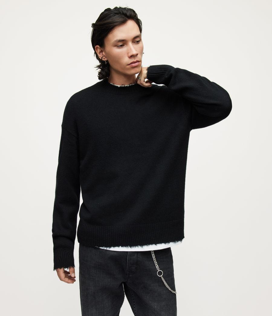 Herren Luxor Organic Wool Crew Jumper (black) - Image 1