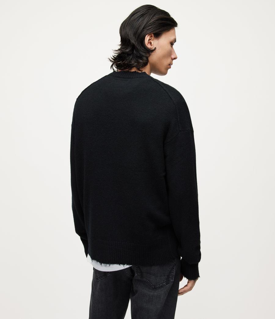 Herren Luxor Organic Wool Crew Jumper (black) - Image 4