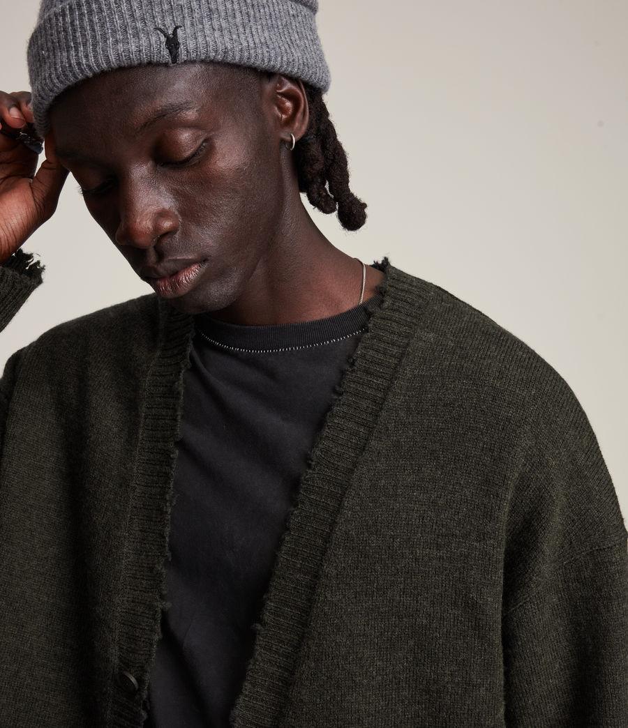 Herren Luxor Organic Wool Cardigan (cinder_black_marl) - Image 2