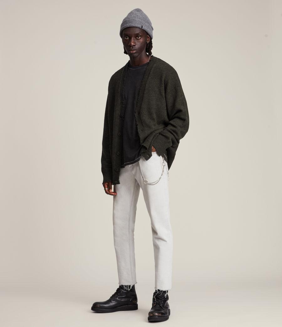 Herren Luxor Organic Wool Cardigan (cinder_black_marl) - Image 4