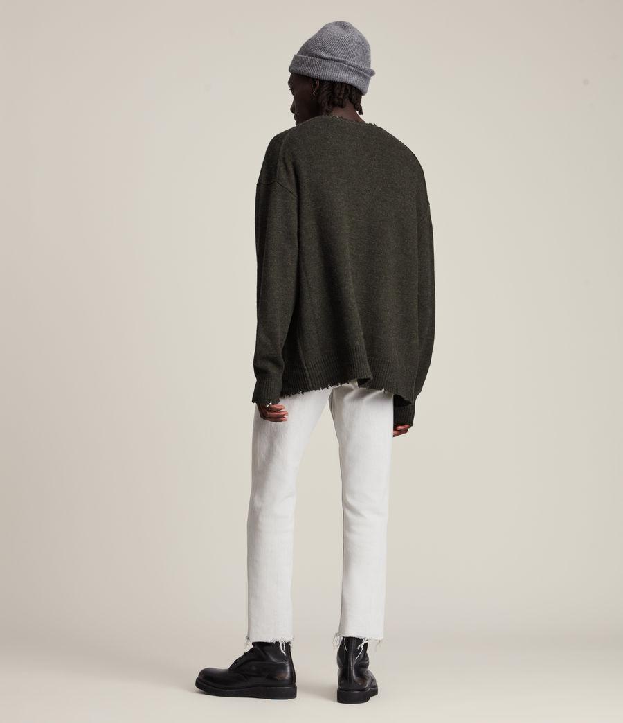 Herren Luxor Organic Wool Cardigan (cinder_black_marl) - Image 5