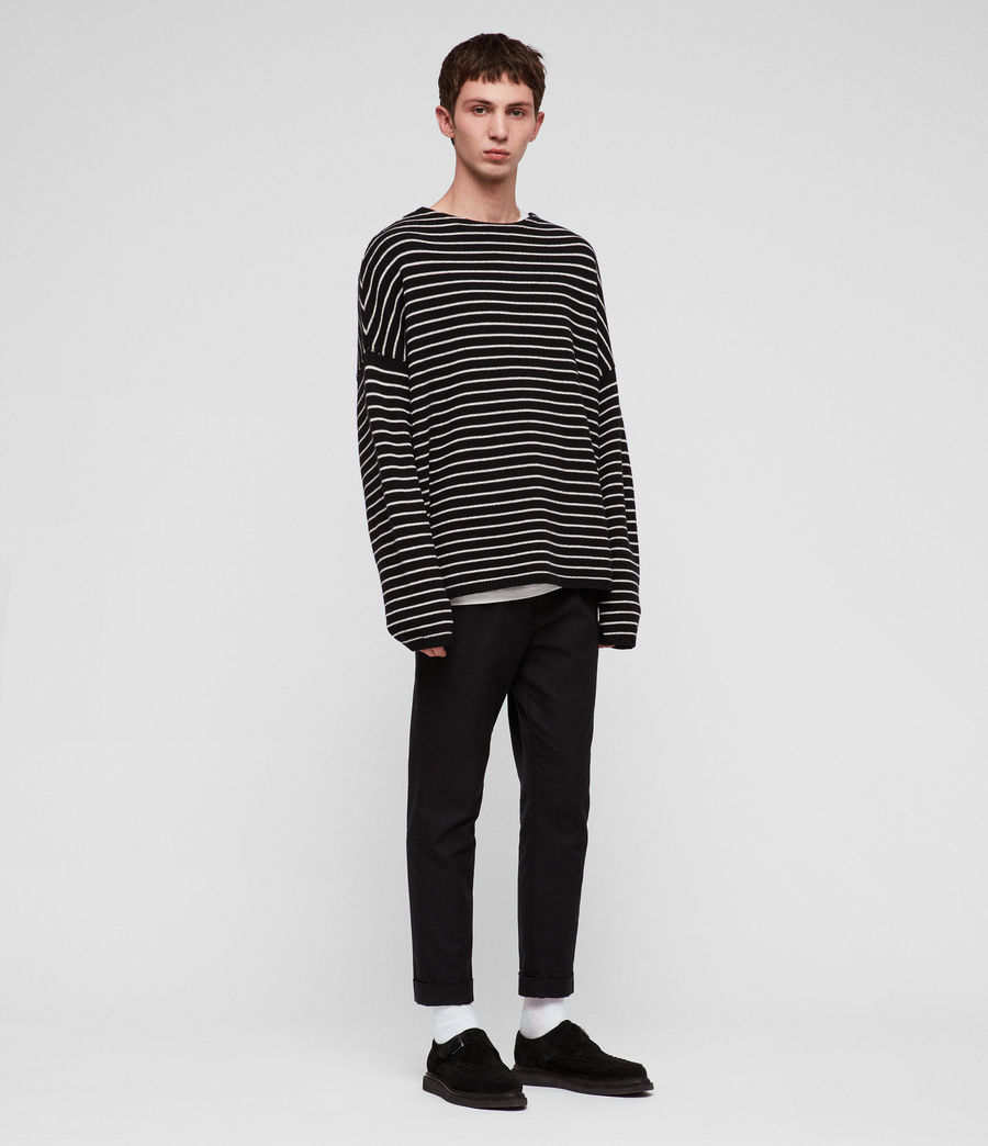 Men's Marty Crew Jumper (black_ecru_white) - Image 1