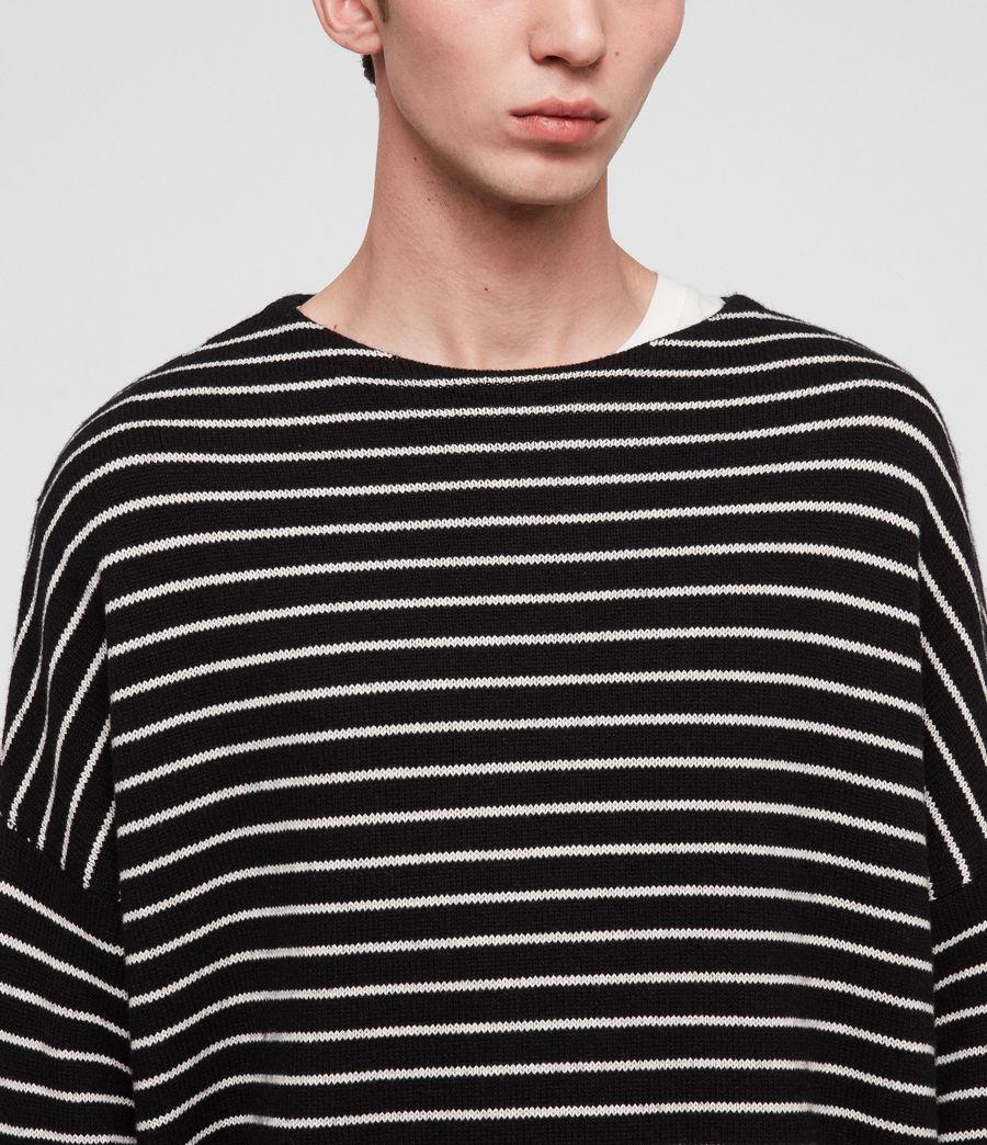 Men's Marty Crew Jumper (black_ecru_white) - Image 2