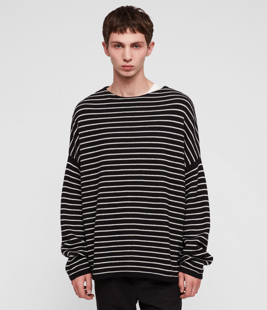 Men's Marty Crew Jumper (black_ecru_white) - Image 3