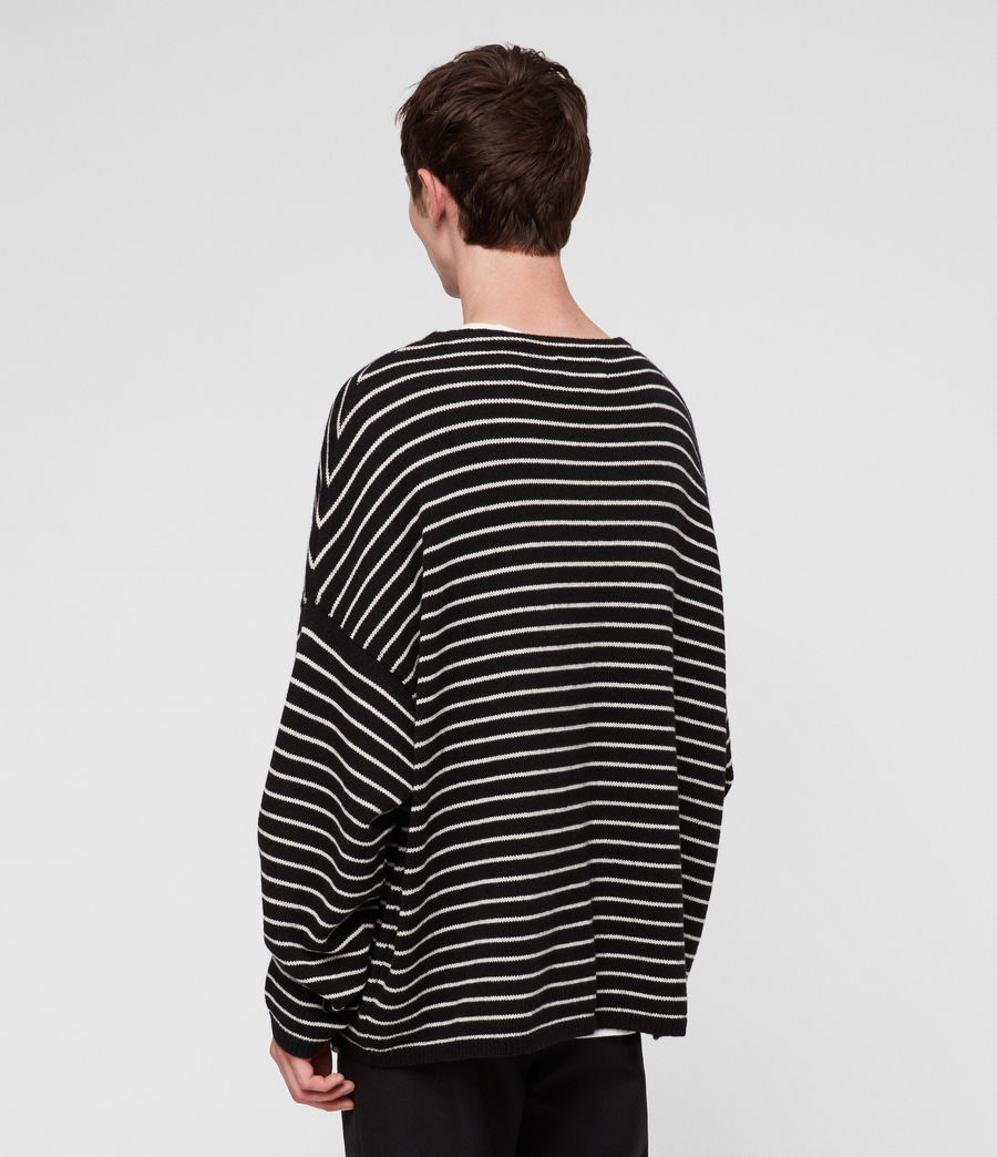 Men's Marty Crew Jumper (black_ecru_white) - Image 4