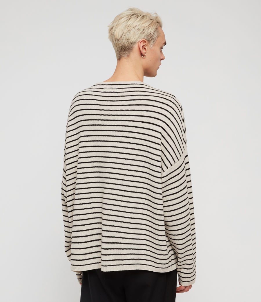Mens Marty Crew Sweaters (ecru_white_black) - Image 4