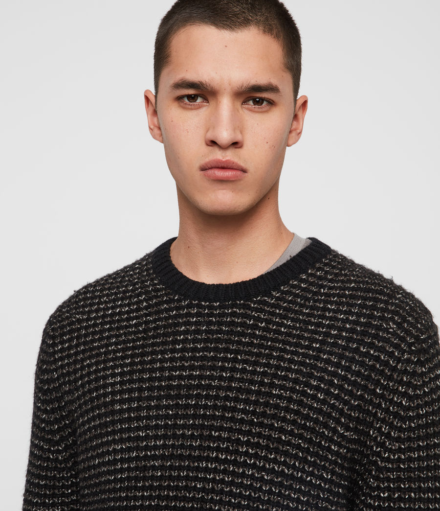 Mens Larkk Crew Sweater (black_khaki_brown) - Image 2