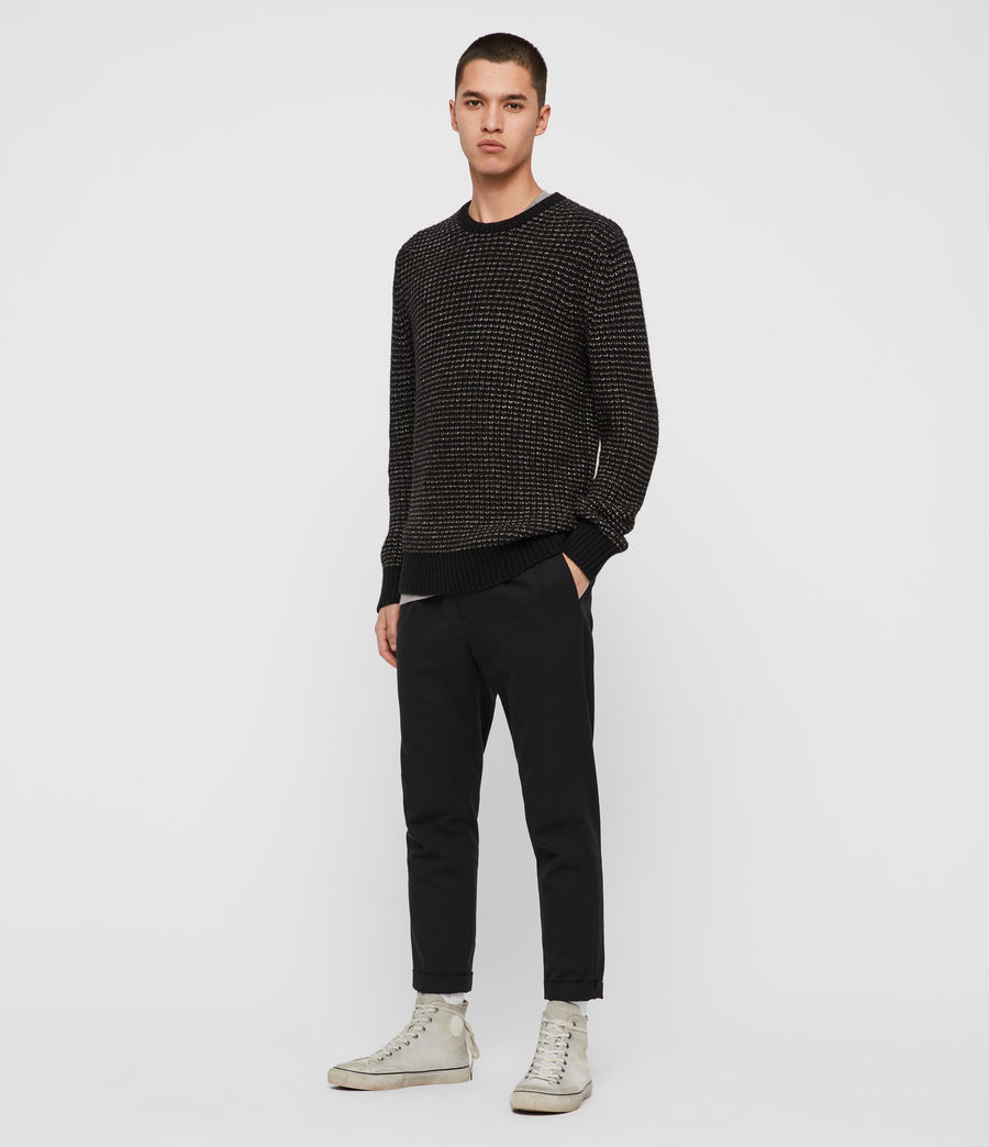 Mens Larkk Crew Sweater (black_khaki_brown) - Image 3