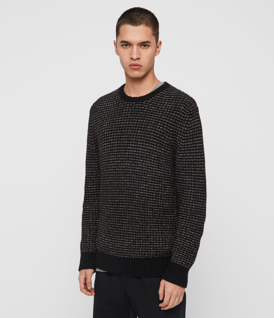 Mens Larkk Crew Sweater (black_khaki_brown) - Image 4