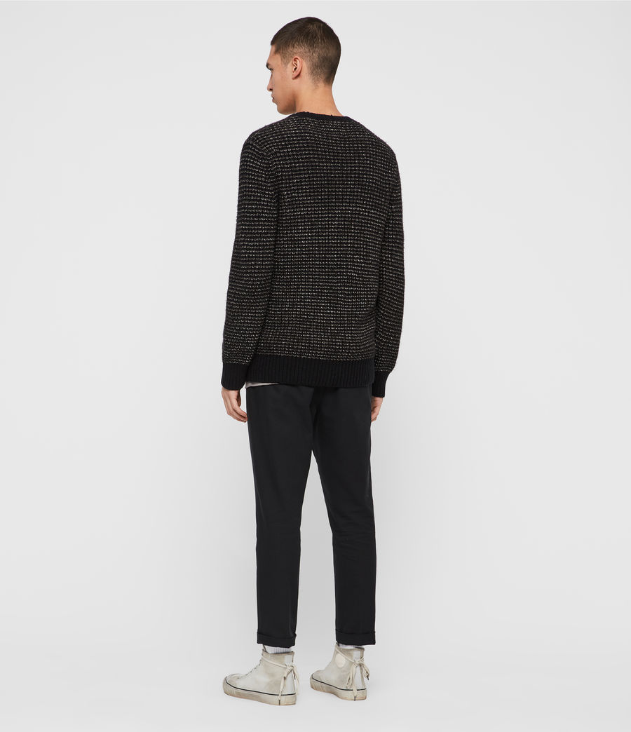 Mens Larkk Crew Sweater (black_khaki_brown) - Image 5