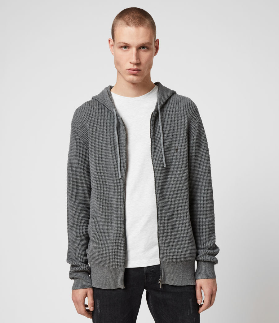 Men's Wells Zip Hoodie (engine_grey_marl) - Image 1