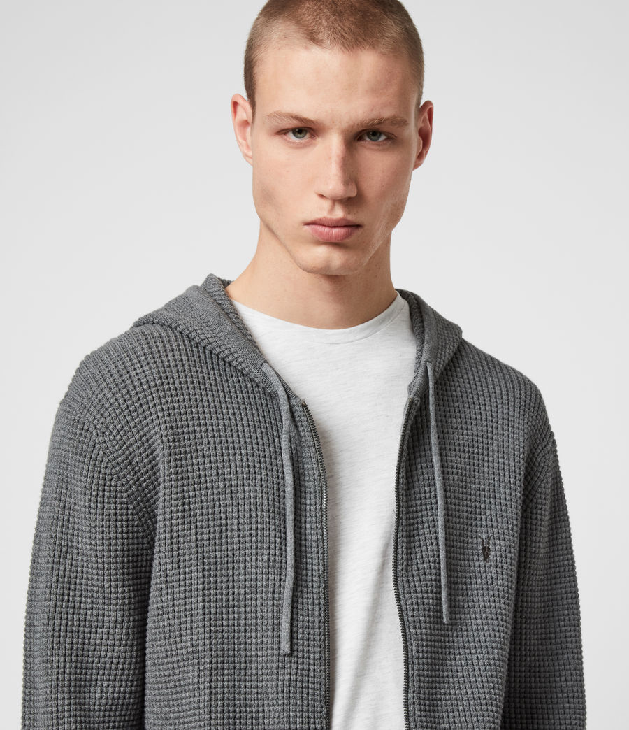 Men's Wells Zip Hoodie (engine_grey_marl) - Image 2