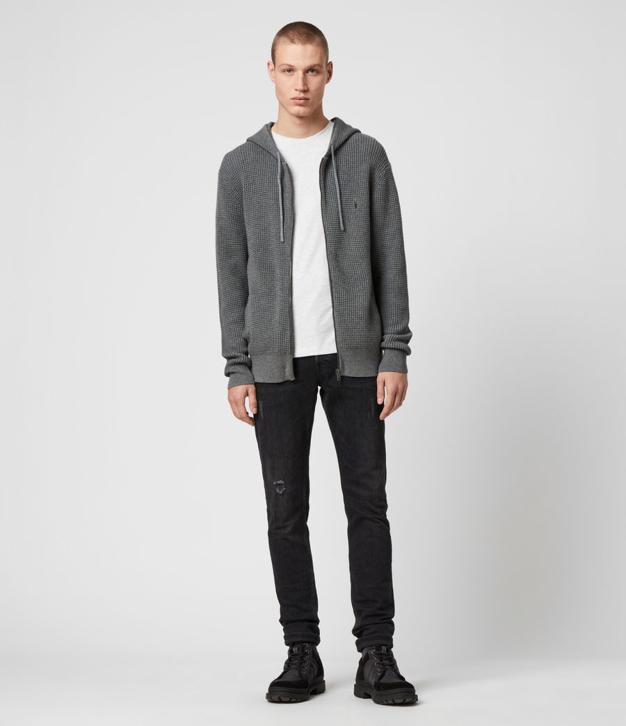 Men's Wells Zip Hoodie (engine_grey_marl) - Image 3