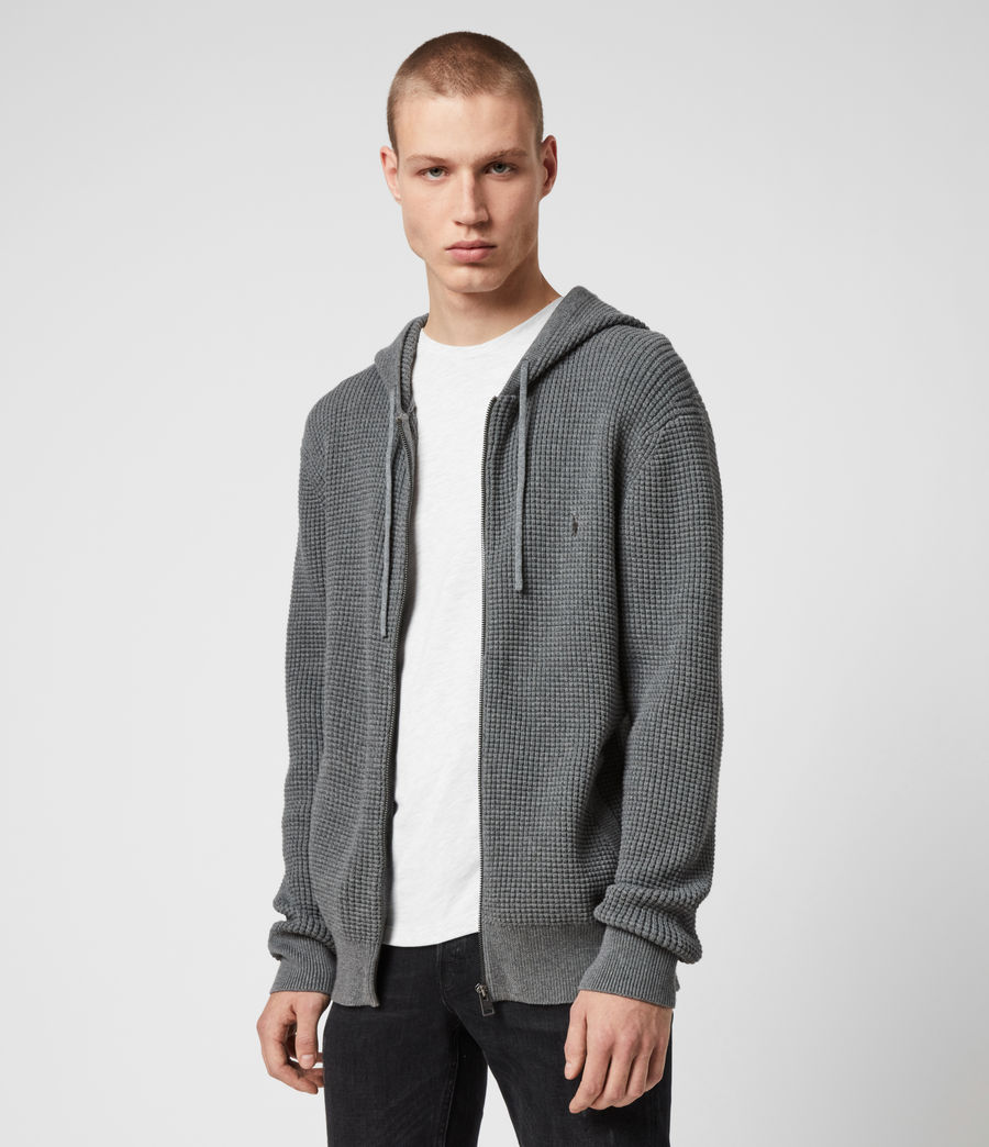 Men's Wells Zip Hoodie (engine_grey_marl) - Image 4