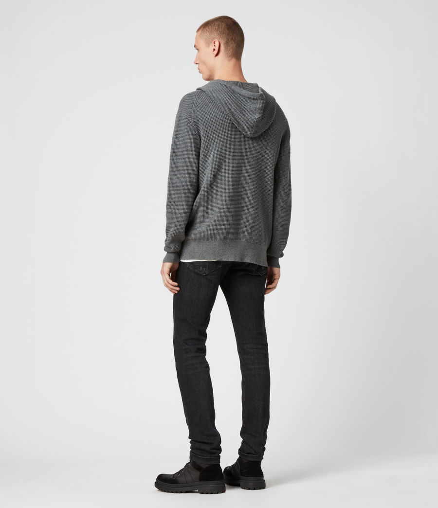 Men's Wells Zip Hoodie (engine_grey_marl) - Image 5