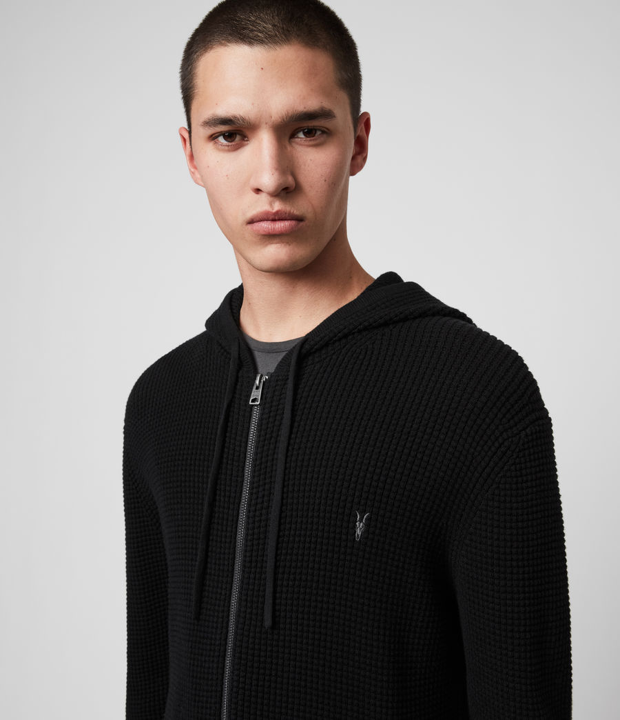 Hommes Sweat à Capuche Wells (black) - Image 2