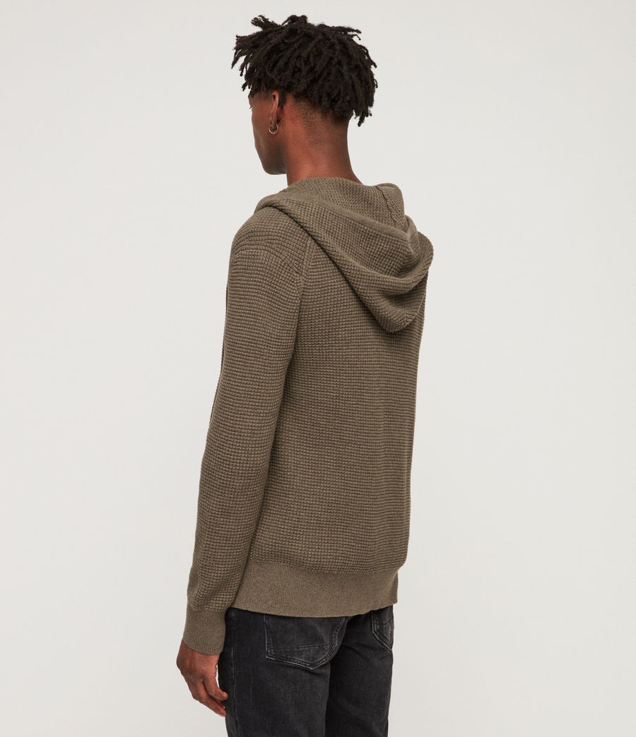 Men's Wells Zip Hoodie (bark_green_marl) - Image 4