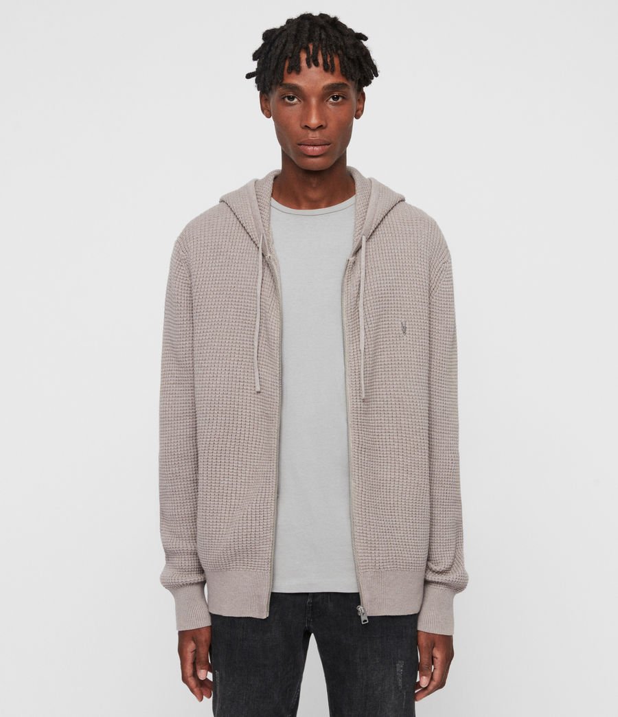 Hombres Sudadera con Capucha Wells Zip (shale_taupe_marl) - Image 1