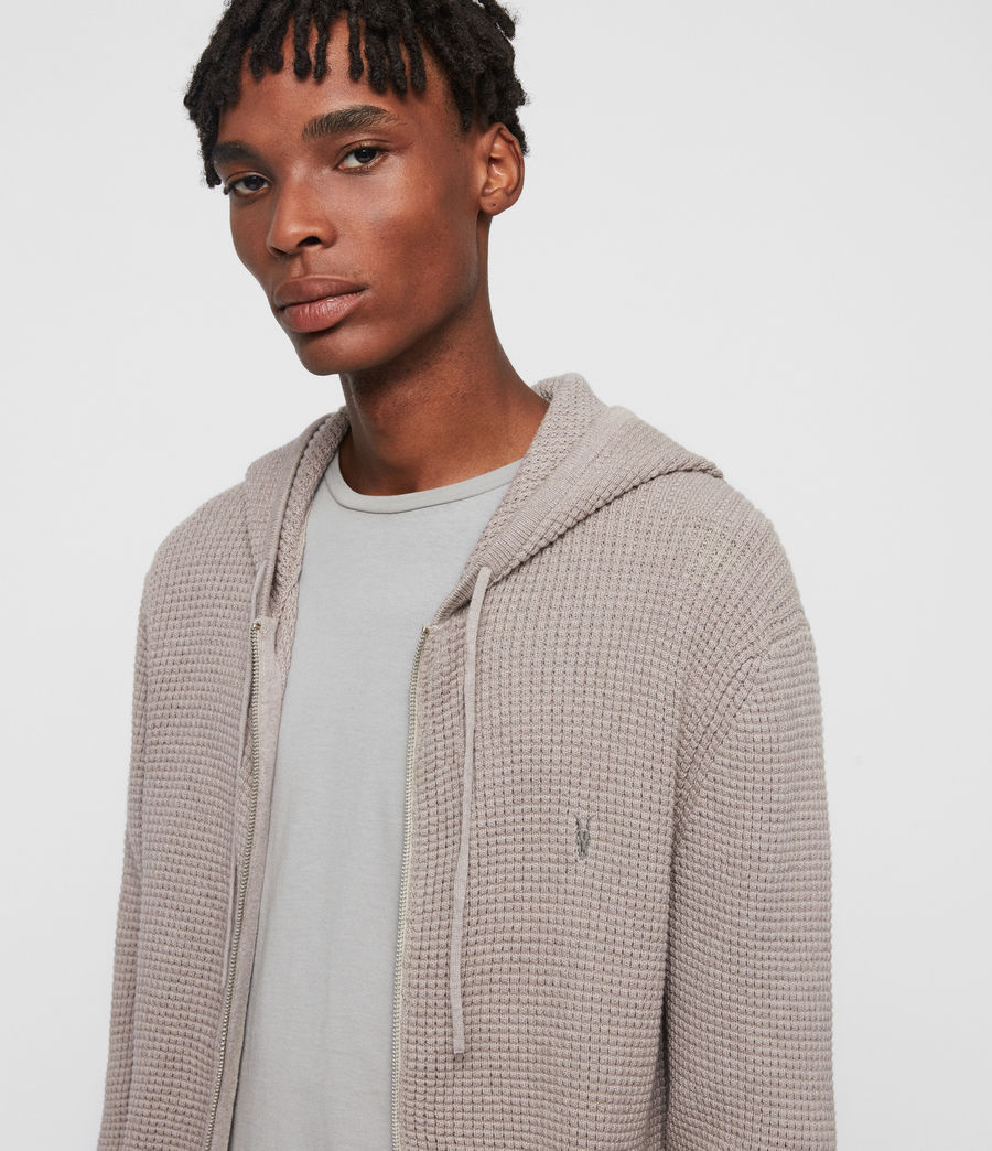 Hombres Sudadera con Capucha Wells Zip (shale_taupe_marl) - Image 2