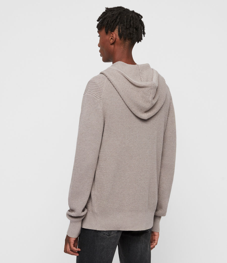 Hombres Sudadera con Capucha Wells Zip (shale_taupe_marl) - Image 5