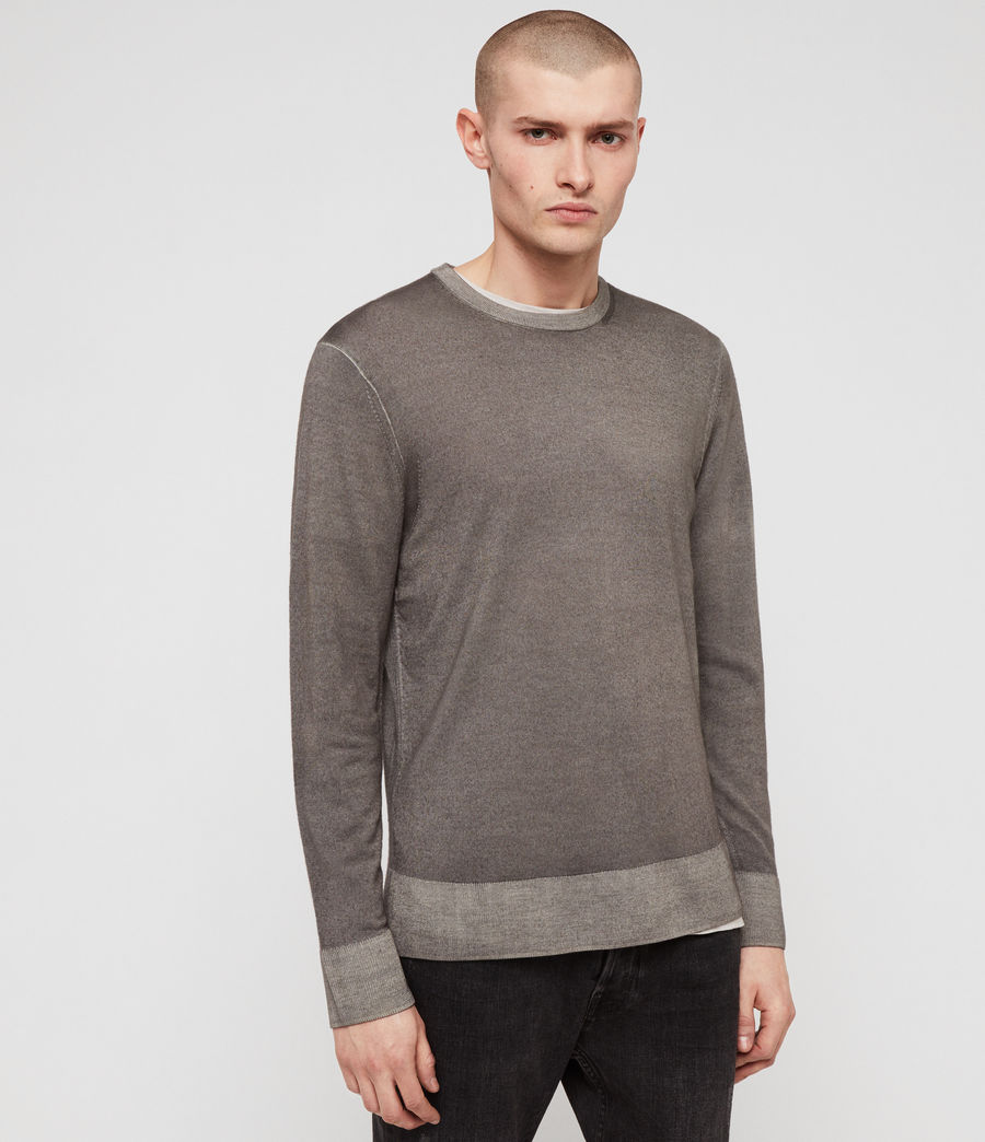 Mens Ark Merino Crew Sweater (sutro_grey) - Image 1
