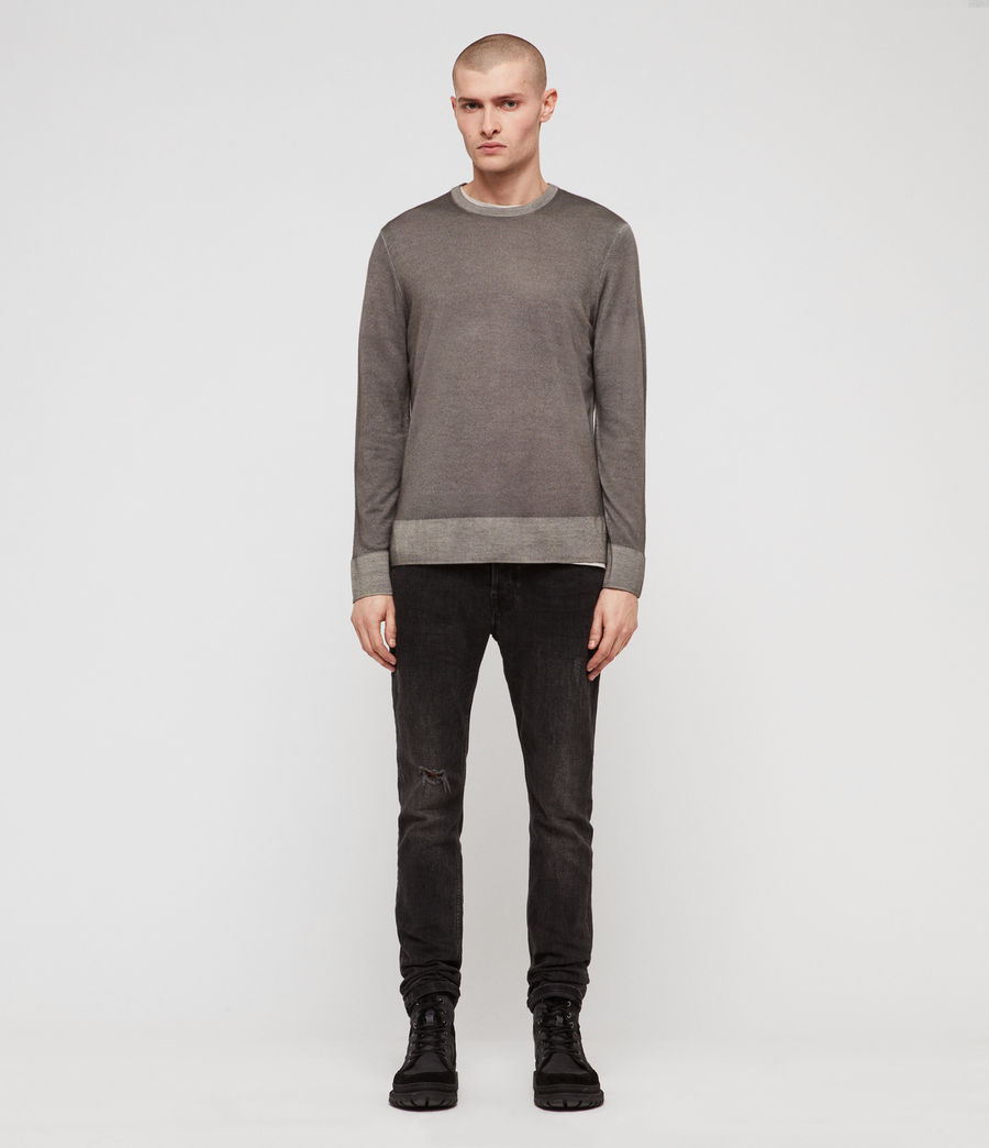 Mens Ark Merino Crew Sweater (sutro_grey) - Image 3