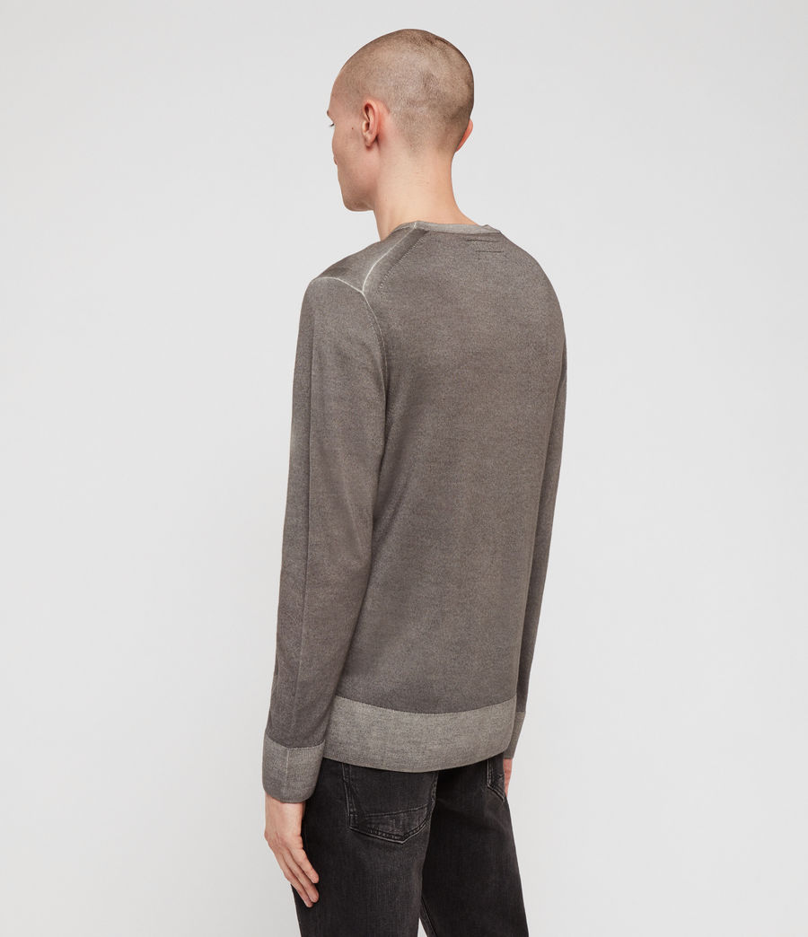 Mens Ark Merino Crew Sweater (sutro_grey) - Image 4
