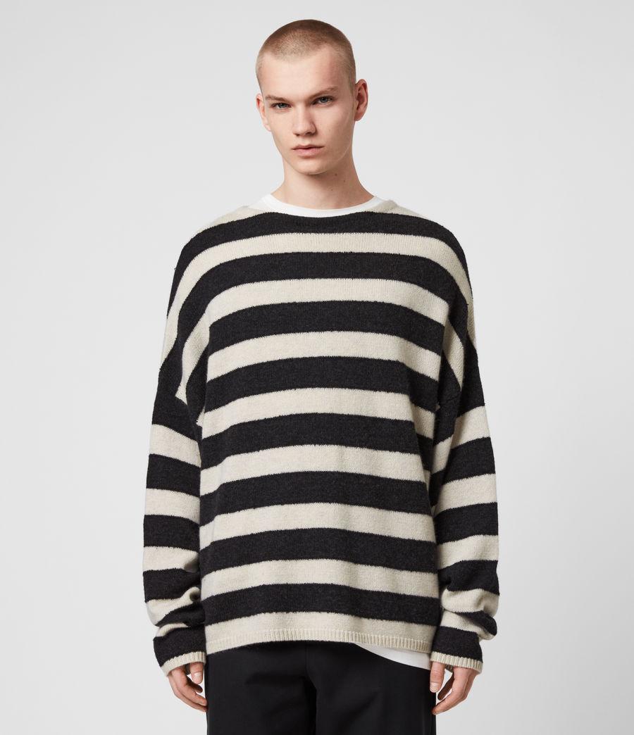 Mens Hayle Crew Sweater (ecru_cinder_black) - Image 1