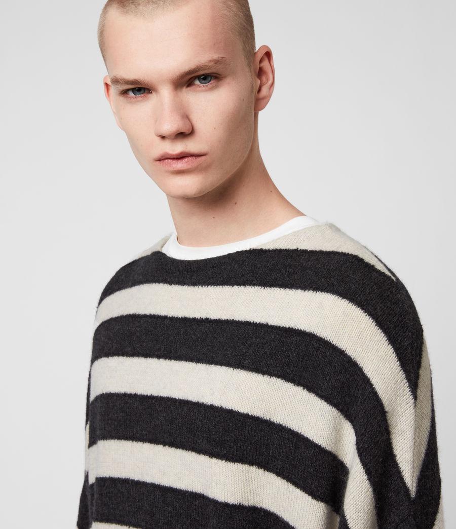 Mens Hayle Crew Sweater (ecru_cinder_black) - Image 2