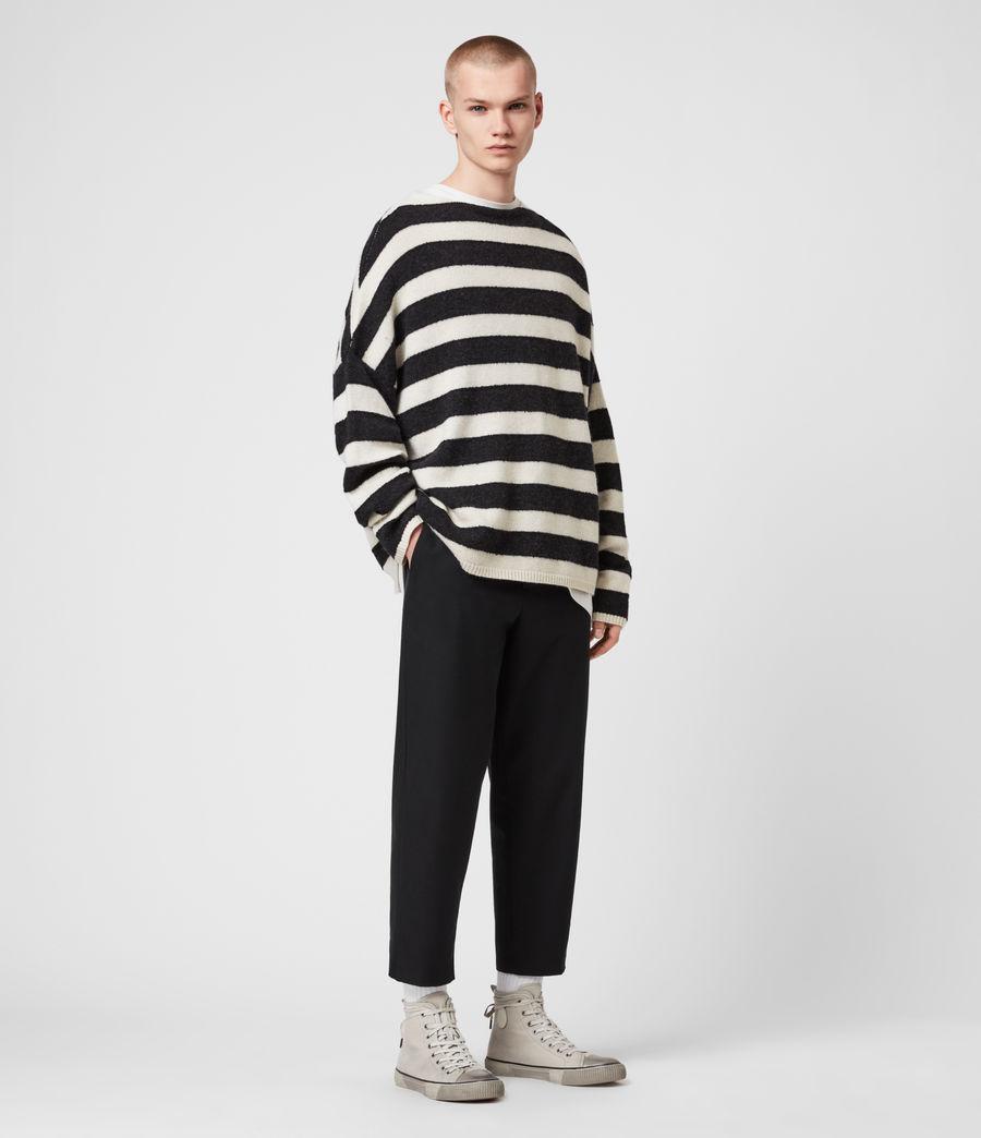 Mens Hayle Crew Sweater (ecru_cinder_black) - Image 3