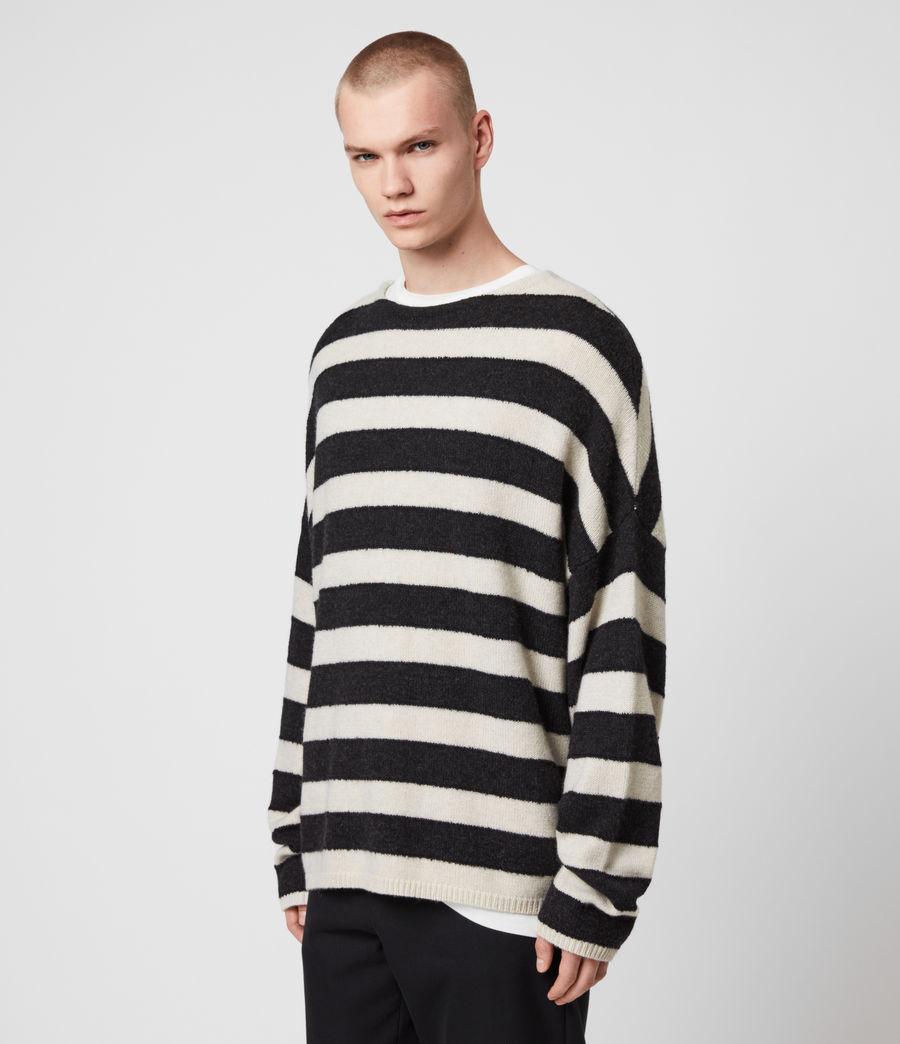 Mens Hayle Crew Sweater (ecru_cinder_black) - Image 4