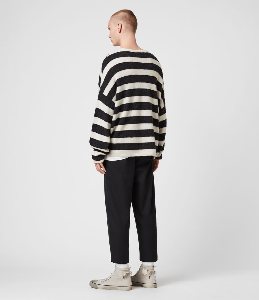 Mens Hayle Crew Sweater (ecru_cinder_black) - Image 5