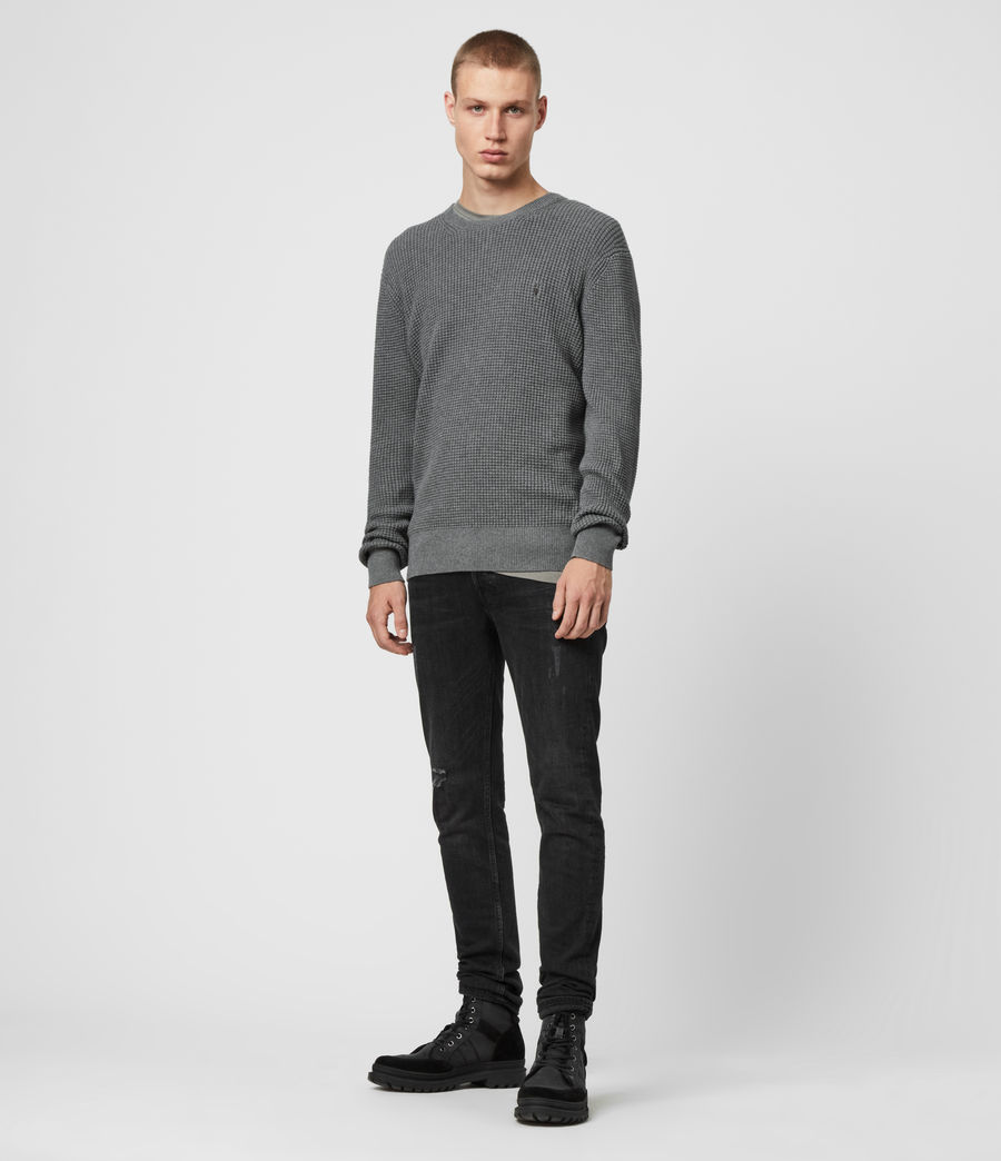 Men's Wells Crew Jumper (grain_taupe) - Image 3