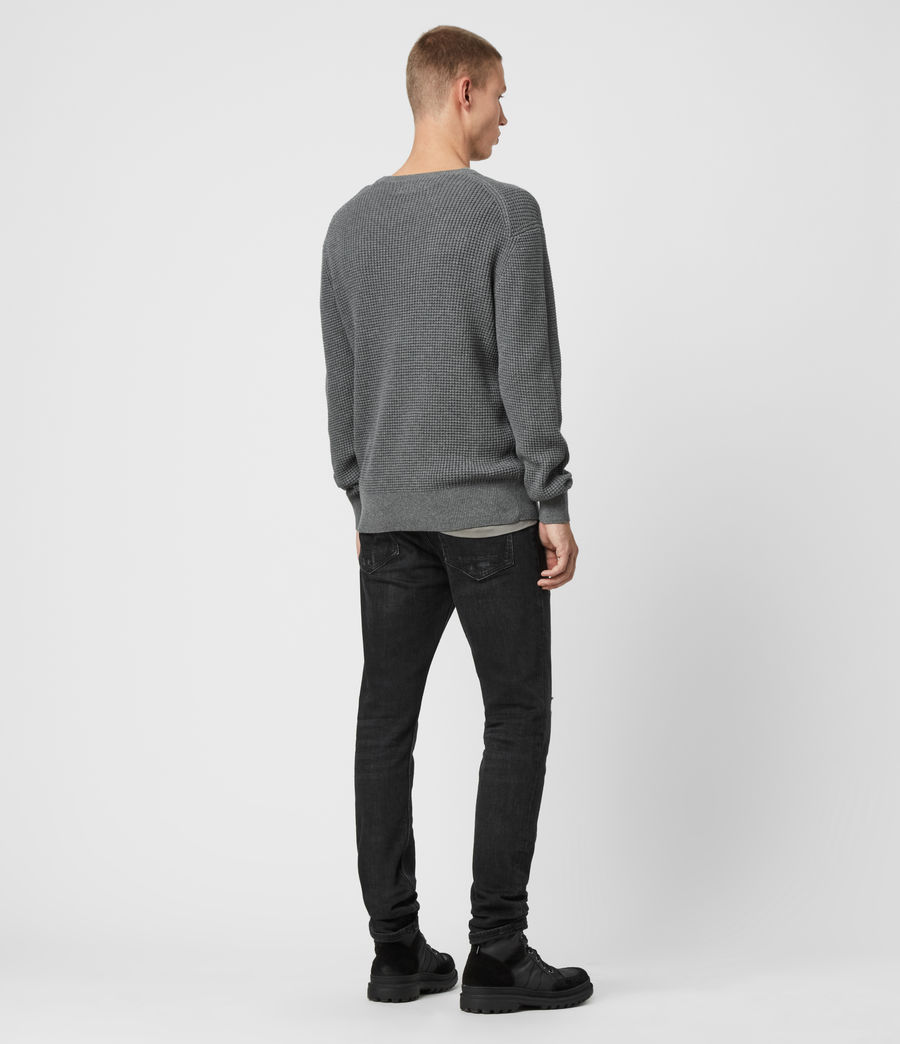 Men's Wells Crew Jumper (grain_taupe) - Image 5