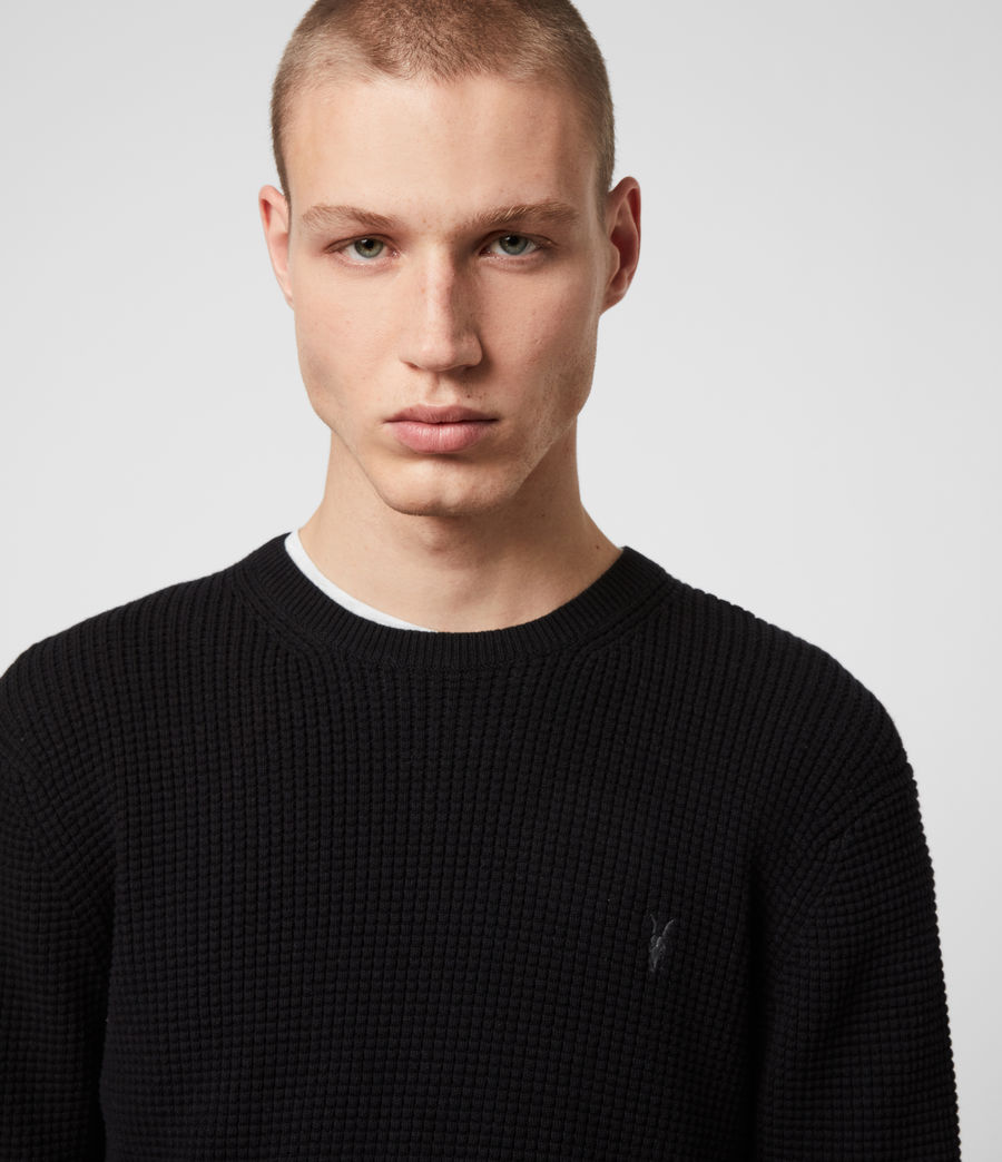 Men's Wells Crew Jumper (black) - Image 2