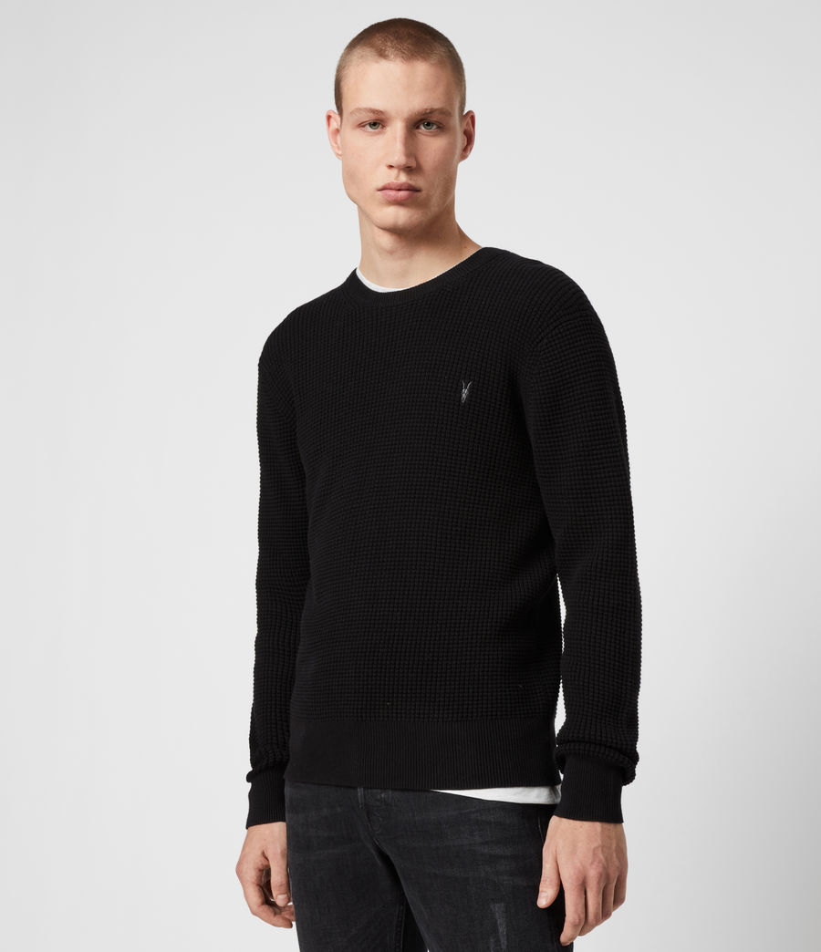 Men's Wells Crew Jumper (black) - Image 4