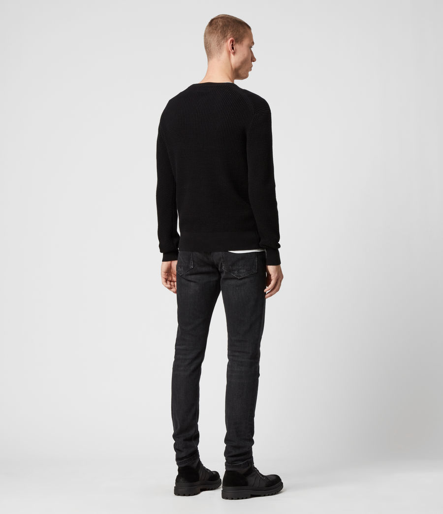 Men's Wells Crew Jumper (black) - Image 5
