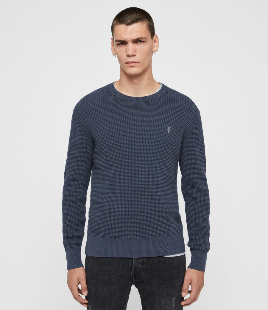 Men's Wells Crew Jumper (pier_blue_marl) - Image 1